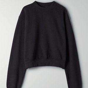 TNA Aritzia Cropped Black Sweatshirt